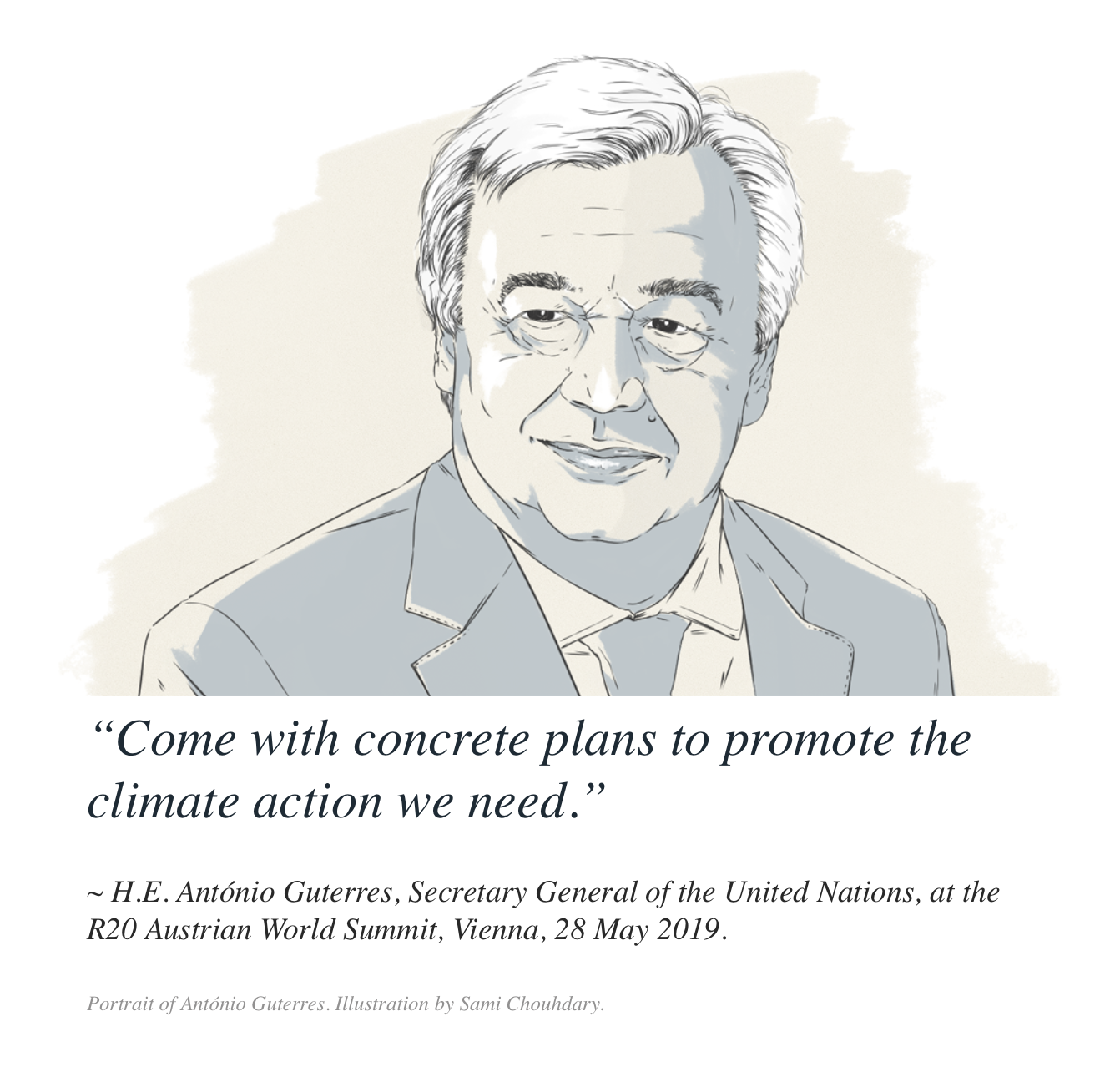Quote by H.E. António Guterres
